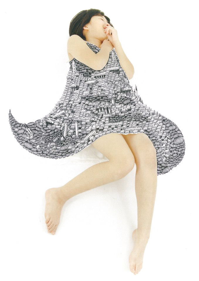 石井七歩(いしいなほ)のアート作品「理想島04」