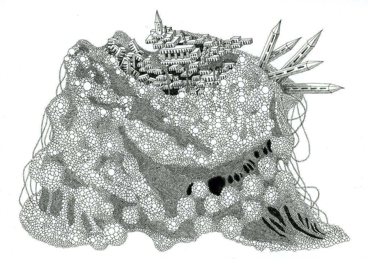 石井七歩(いしいなほ)のアート作品「理想宮(粘菌02)」