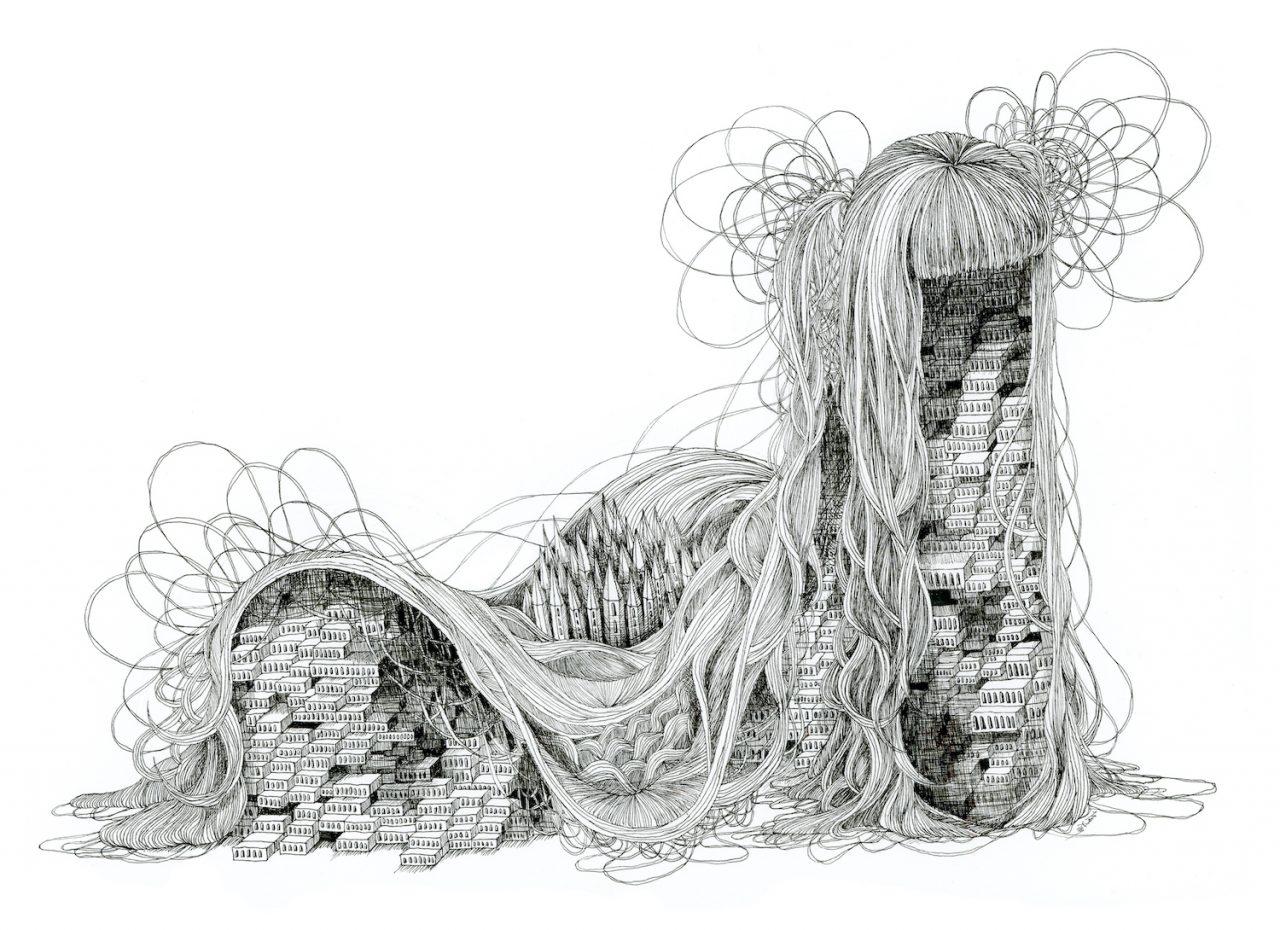 石井七歩(いしいなほ)のアート作品「理想宮(海の向こう)」
