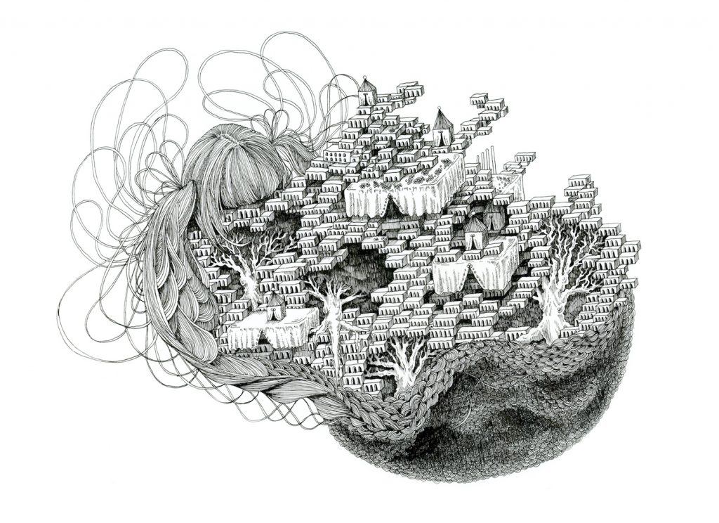 石井七歩(いしいなほ)のアート作品「理想宮(サーカス)」