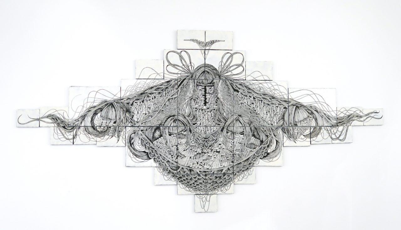 石井七歩(いしいなほ)のアート作品「理想宮(五人の女神)」