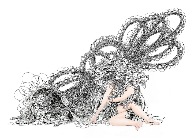 石井七歩(いしいなほ)のアート作品「理想宮(人間01)」