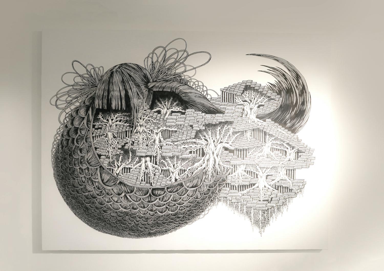 石井七歩(いしいなほ)のアート作品「理想宮(世界線)」