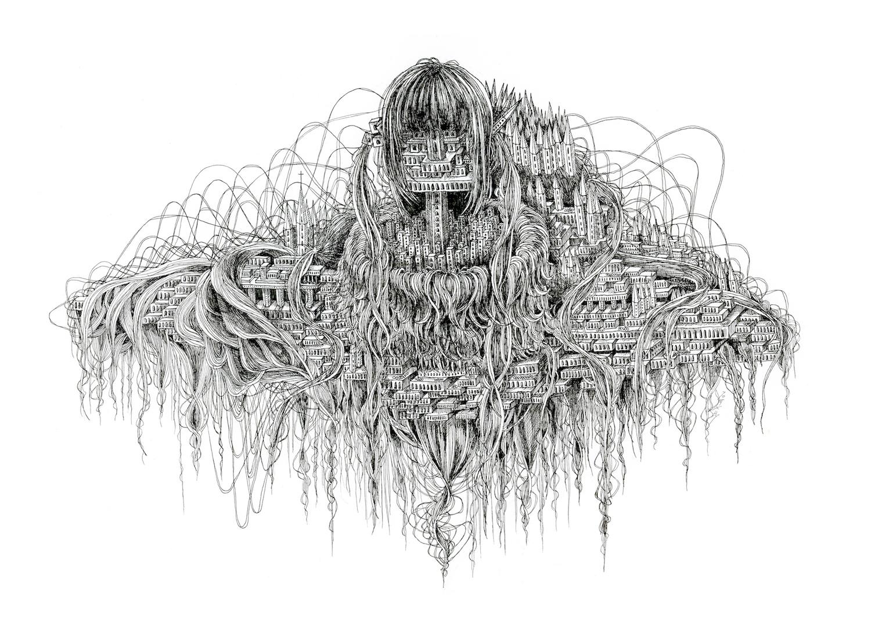 石井七歩(いしいなほ)のアート作品「理想宮(象牙の塔)」
