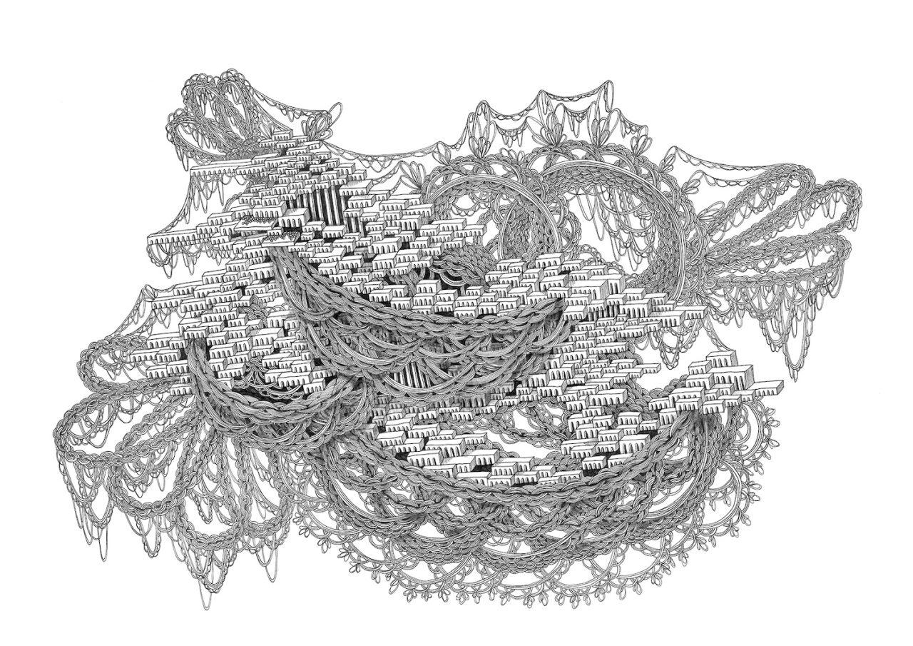 石井七歩(いしいなほ)のアート作品「理想宮(巨鳥)」