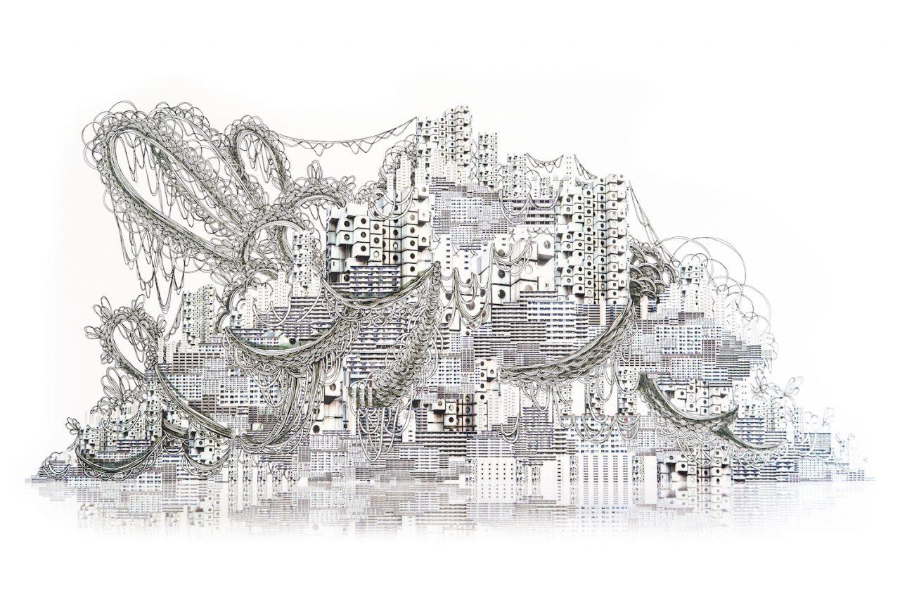 石井七歩(いしいなほ)のアート作品「理想宮(中銀カプセルタワービル01)」