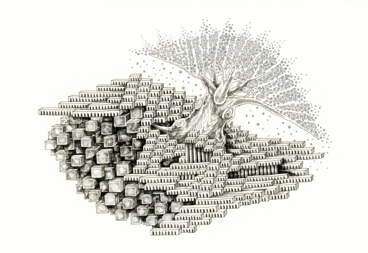 石井七歩(いしいなほ)のアート作品「理想宮(樹木01)」