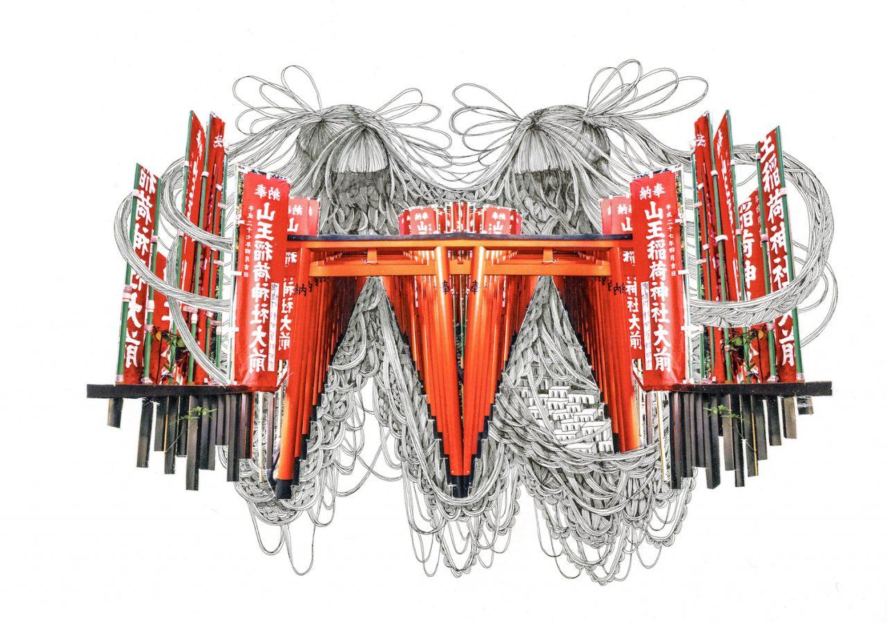 石井七歩(いしいなほ)のアート作品「Tokyo Perfect world(赤坂)」