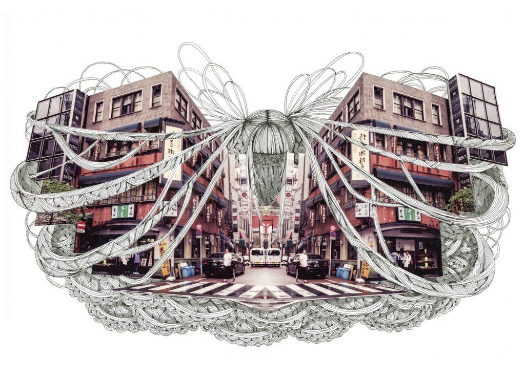 石井七歩(いしいなほ)のアート作品「Tokyo Perfect world(銀座)」