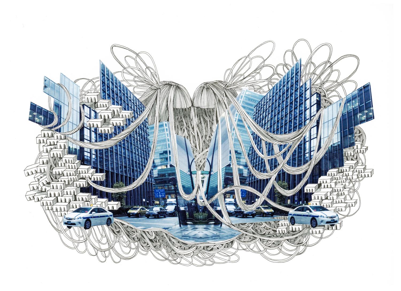石井七歩(いしいなほ)のアート作品「Tokyo Perfect world(日本橋)」