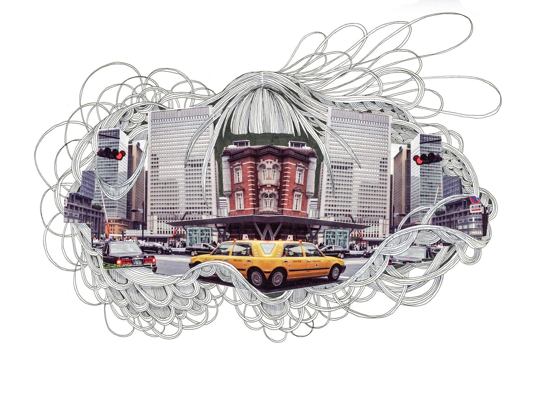 石井七歩(いしいなほ)のアート作品「Tokyo Perfect world(東京駅02)」